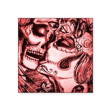 """Amor De Calaveras Square Sticker 3"""" x 3"""""""
