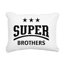Super Brothers (Black) Rectangular Canvas Pillow