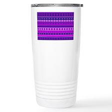 Purple Stripy Stars and Travel Mug