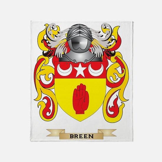 Breen Coat of Arms Throw Blanket