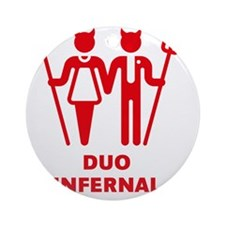 Duo Infernal Round Ornament