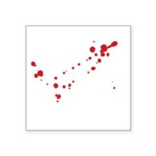 "ZombieKillingMode1B Square Sticker 3"" x 3"""