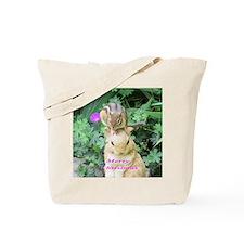 Chipmunk and garden bunny Tote Bag