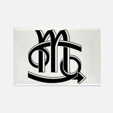 Cancer & Scorpio B/W Rectangle Magnet (100 pack)