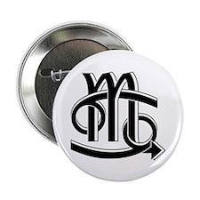 "Cancer & Scorpio B/W 2.25"" Button (10 pack)"