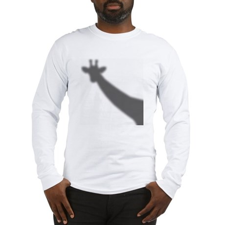 Giraffe Shadow Long Sleeve T-Shirt