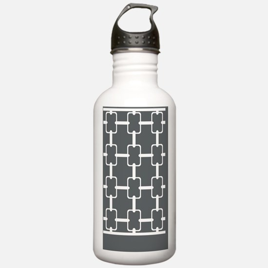 Rectangle Links 5x7 W  Water Bottle
