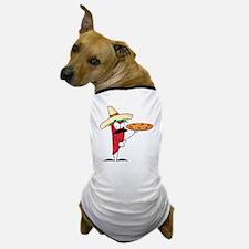 funny chili pepper holding pizza Dog T-Shirt