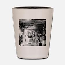 Bootleg Whiskey Warehouse Shot Glass