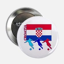 "Croatia Soccer 2.25"" Button (10 pack)"