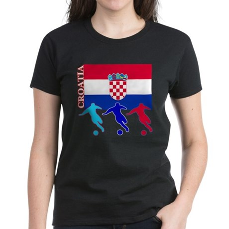 Croatia Soccer Women's Dark T-Shirt