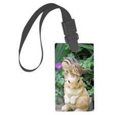 Chipmunk and garden bunny Luggage Tag