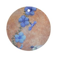 StephanieAM HummingbirdMP Round Ornament