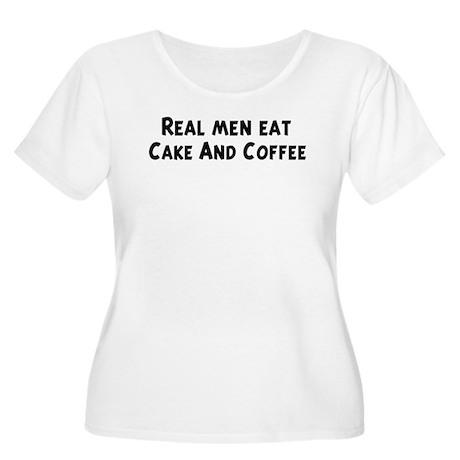 Men eat Cake And Coffee Women's Plus Size Scoop Ne