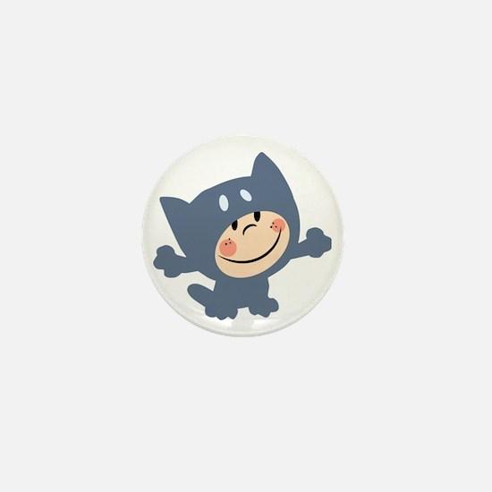 cute kid in cat costume Mini Button