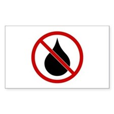 No Oil Rectangle Decal