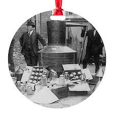 Seized Moonshine Still Ornament