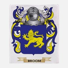 Broom Coat of Arms Throw Blanket