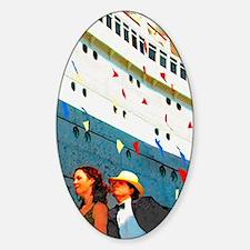 Bon Voyage Sticker (Oval)