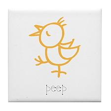 Peep, The Little Chick Tile Coaster
