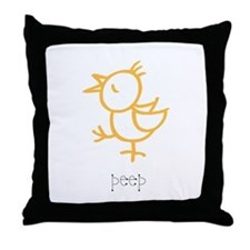 Peep, The Little Chick Throw Pillow