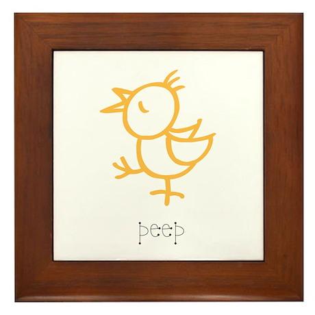 Peep, The Little Chick Framed Tile