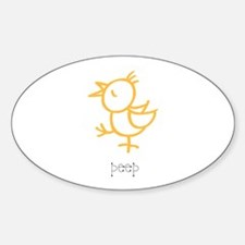 Peep, The Little Chick Oval Decal