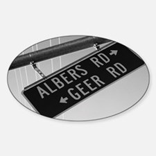 Albers Turns Into Geer Sticker (Oval)