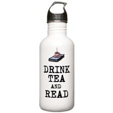 Drink Tea and Read Water Bottle
