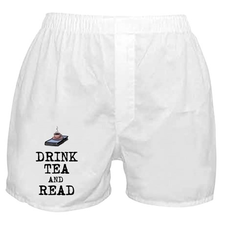 Drink Tea and Read Boxer Shorts