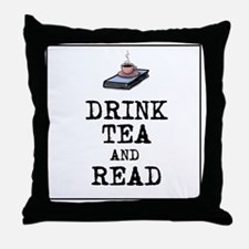 Drink Tea and Read Throw Pillow
