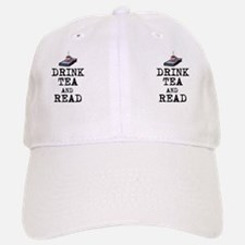 Drink Tea and Read Baseball Baseball Cap