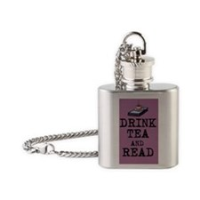 Drink Tea and Read Flask Necklace