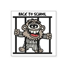 "Back To School Square Sticker 3"" x 3"""