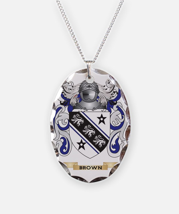 Brown Coat of Arms Necklace