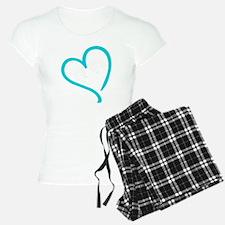 Baby Feet Heart Blue Pajamas