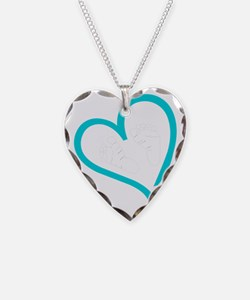 Baby Feet Heart Blue Necklace