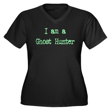 """I Am a Ghost Hunter"" Women's Plus Size V-Neck Dar"
