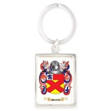 Bruce Coat of Arms Portrait Keychain