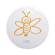 Buzz, The Bumble Bee Ornament (Round)