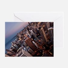 Evening falls on Chicago Greeting Card