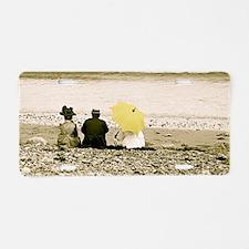 Yellow Umbrella Aluminum License Plate