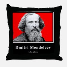 Dmitri Mendeleev Like A Boss Throw Pillow