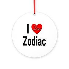 I Love Zodiac Ornament (Round)