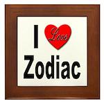 I Love Zodiac Framed Tile
