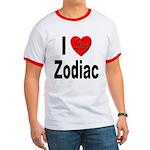 I Love Zodiac Ringer T