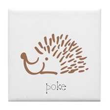 Poke, The Porcupine Tile Coaster