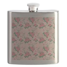 Pink Roses and Butterflies Flask