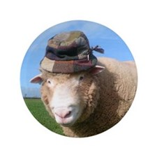 "sheep in hat 3.5"" Button"