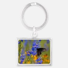 Wildflowers  Butterfly Landscape Keychain
